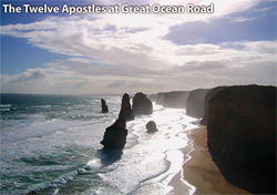 Ein Foto mit dem Titel: the 12 Apostles at Great Ocean Road